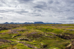 Icelandic natural volcanic landscape, summer time Royalty Free Stock Photography
