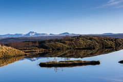 Icelandic nature outddors at Silfra Stock Image