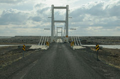Icelandic one lane bridge Stock Photo