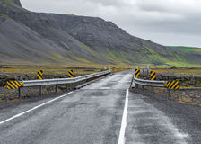 Icelandic one-way bridge Stock Photo