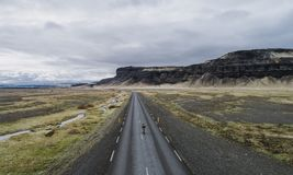 Icelandic panoramas, aerial view on the lands royalty free stock photos