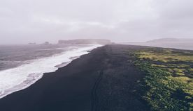 Icelandic panoramas, aerial view on the lands. From the sky, aerial photography stock photo