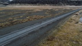 Icelandic panoramas, aerial view on the lands stock photos