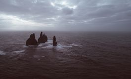 Icelandic panoramas, aerial view on the lands. From the sky, aerial photography royalty free stock photos