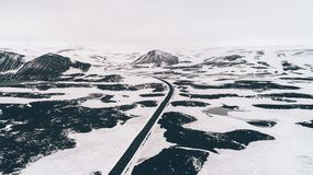 Icelandic panoramas, aerial view on the lands. From the sky, aerial photography royalty free stock images