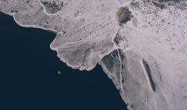 Icelandic panoramas, aerial view on the lands. From the sky, aerial photography stock photos