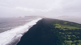 Icelandic panoramas, aerial view on the lands. From the sky, aerial photography royalty free stock photography