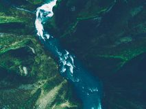 Icelandic panoramas, aerial view on the lands. From the sky, aerial photography royalty free stock photo