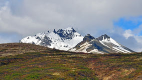 Icelandic peaks and soil Stock Photo