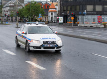 Icelandic police car Royalty Free Stock Images