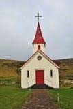 Icelandic red chapel Stock Photos