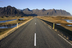Icelandic road - Iceland Royalty Free Stock Photography