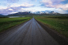 Icelandic road Royalty Free Stock Photos