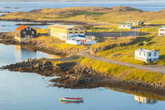 Icelandic small fishing village - Djupivogur Stock Photos