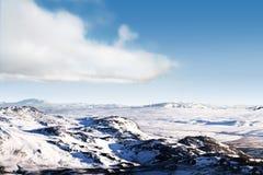Icelandic snow desert landscape Stock Photography