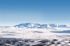 Icelandic snow desert landscape Royalty Free Stock Images