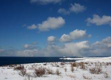Icelandic snowy peninsula scene Royalty Free Stock Image
