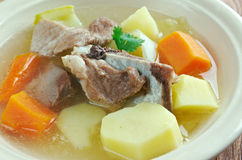 Icelandic soup with meat Stock Photography