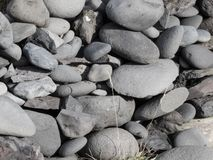 Icelandic stones. Some Icelandic stones, building a wall Stock Photos