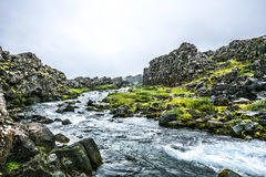 Icelandic summer brook Royalty Free Stock Images
