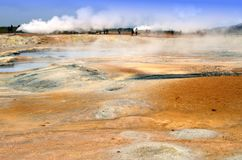 Icelandic Thermal Sulphur Field Stock Images