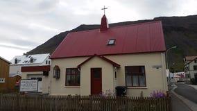Icelandic Traditional Church Stock Photography