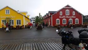 Icelandic Traditional Houses Stock Photos