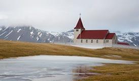 Icelandic traditional small church Stock Photos