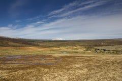 Icelandic Tundra. With volcano on the horizon Royalty Free Stock Photography