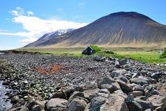 Icelandic turf house Stock Images