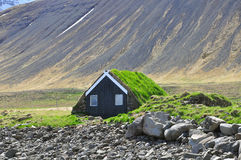 Icelandic turf house Stock Image