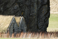 Icelandic turf house Royalty Free Stock Images