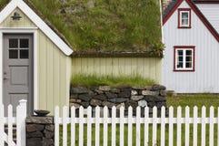 Icelandic turf house in North Iceland. Siglufjordur. Stock Photography