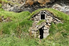 Icelandic Turf House Stock Images