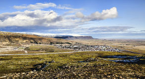 Icelandic village, Hveragerdi Stock Photo