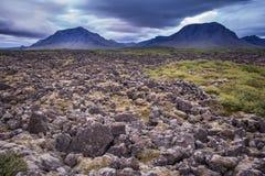 Icelandic volcanic landscape Royalty Free Stock Photography