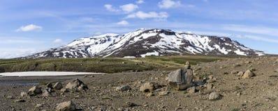 Icelandic Volcanic Panorama Stock Photos