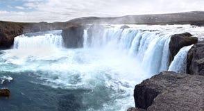 Icelandic waterfall Godafoss Stock Image