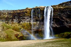 Icelandic Waterfall. I took this image while i was on a trip in Iceland. It was just to the left of the famous Seljalandsfoss waterfall and although this one Stock Images