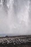 Icelandic waterfall Skogafoss, part of it Stock Photo