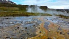 Icelands geotermiskt liv Arkivbild