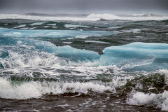 Icelands rough and danger coasts Stock Image
