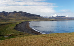 Icelaned and ocean coast stock photo