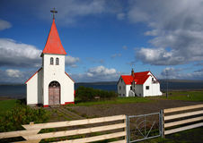 Icelanic Kirche Stockfoto