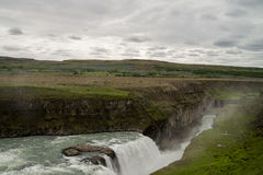 Icelendic great waterfall Gullfoss Royalty Free Stock Images