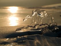 Icelight fine contro il sole fotografia stock libera da diritti