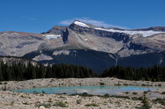 Iceline trail in Yoho National Park along with glaciers, British Royalty Free Stock Photo