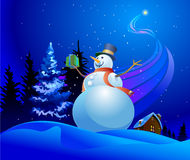 Iceman avec un cadre de cadeau Image stock