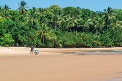 Iceman en la grande playa del barra en el Brasil Foto de archivo libre de regalías