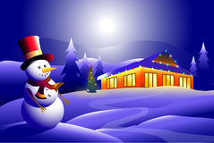 Iceman & Holiday. Is a  illustration Stock Image